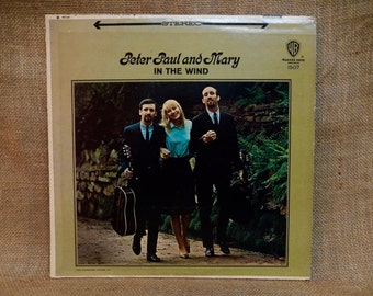 Peter, Paul and Mary - In the Wind - 1968 Vintage Vinyl Record Album