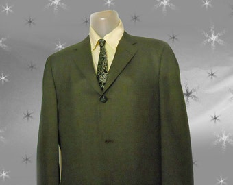 Men's Vintage 60s Suit Jacket - Early 1960s Rat Pack - Thin Lapels