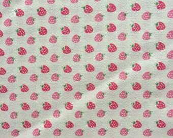 Strawberry Half yard cream white colour fabric