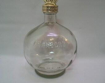 Craft Supplies, Bottle Art, Bottle Crafts, Altered Bottle Art, Glass Bottle For Crafts, Round Chambord Bottle For Altered Bottle Art.