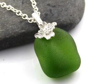 Sea Glass Pendant KEIRA Sea glass Necklace Sea Glass Jewellery Seaglass Necklace Seaglass Pendant Seaglass Jewellery The Strandline