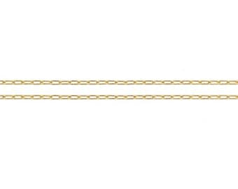 14Kt Gold Filled 1.2mm Elongated Drawn Flat Cable Chain - 20ft Made in USA 20% discounted lowest price wholesale quantity (5314-20)/1
