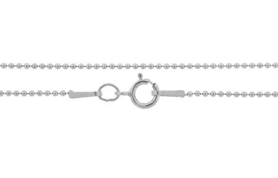 Ball Chain with clasp Sterling Silver 1mm 18 Inch  - 5pcs Neck chain Bulk Quantity 20% Discounted (3654)/5