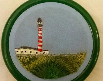 Lighthouse - Tarbet Ness mini embroidered hoop