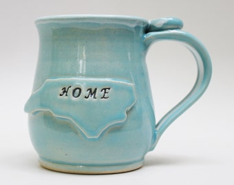 North Carolina Mug, Handmade Ceramic Mug, Made Per Order