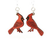 Cardinals Earrings - Lightweight - Eco Friendly Earrings