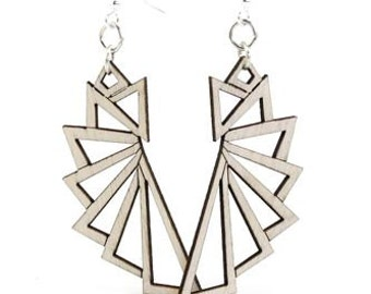 The Triangular Earrings - Reforested Wood
