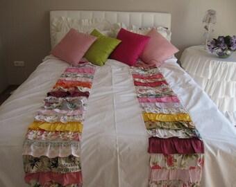 Shabby cottage chic bohemian bedding-waterfall ruffle-Duvet cover Twin XL-Full-Queen-King-cute-lovely romantic Girls bedding Nurdanceyiz