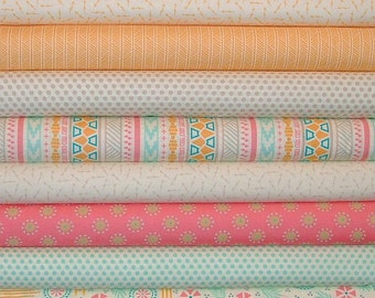 Bright Sun Bundle of 10 by Sherri and Chelsi Of A Quilting Life for Moda