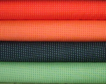 Fat Quarter Bundle of 4 of Tucker Prairie Tiny Crosses by One Canoe Two for Moda