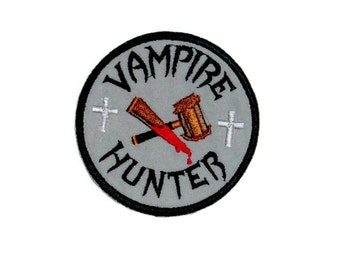 Vampire hunter iron on patch, applique