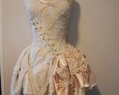 Steampunk Wedding Dress - Whimsical Merlot Dress - Made to Order