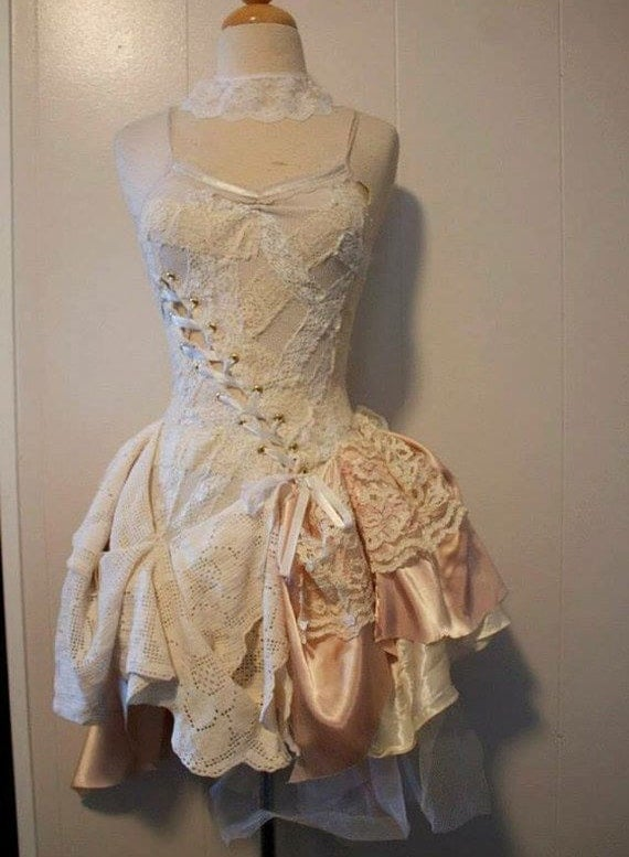 Custom Whimsical Steampunk Wedding Dress Color Options