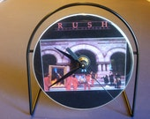 Rush Moving Pictures Recycled CD Clock Art