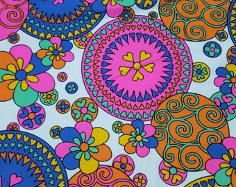 Psychadelic Hippy Bathing Suit fabric