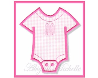 Baby Bodysuit Banner Add On - 4 Sizes, Machine Embroidery