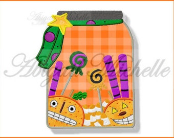 Halloween Treats Applique - 3 Sizes, Machine Embroidery
