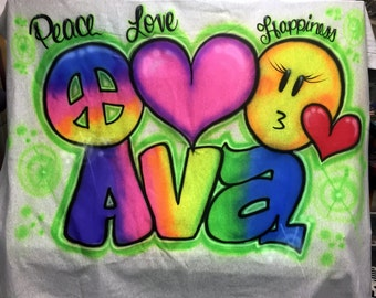 Airbrushed Sweatshirt Blankets Camp