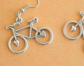 The BICYCLE Earrings...silver bike. antique silver charm. bike. trail. bicycle earrings. retro. kitsch. boho. metal. urban. hipster. hippie.