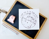 Valentines Card - I Love You To The Moon & Back