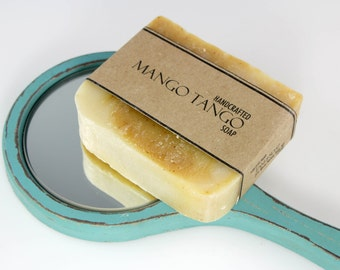 Mango Soap, Mango Tango Cold Process Handmade Vegan Friendly Soap