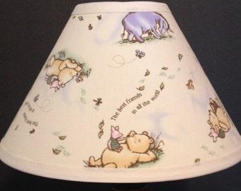 Classic Winnie the Pooh Fabric Nursery Lamp Shade