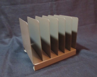 Vintage Metal Letter Holder, Organizer, Office, Mail Sorter, Hunt Manufacturing, Lit-Ning Products Division