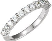 Diamond Rose or white gold diamond anniversary or wedding band with gorgeous diamonds 1/2 carat total weight.