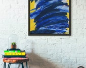 Abstract Canvas Art, Bright Wall Decor, Colorful Artwork, Teen Room Decor Wall Decorations Yellow Bedroom Decor Canvas Wall Art Canvas Print