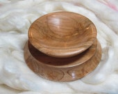 Support Bowl for Hand Spinning in Pennsylvania Spalted Maple