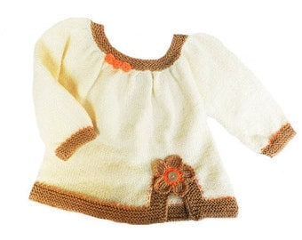 Discount - Knitted baby sweater, baby cardigan, woolen baby sweater, READY TO SHIP