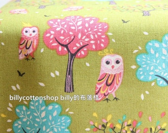 w807_55 - owl fabrics - ( 3 color to choose) in Half Yard