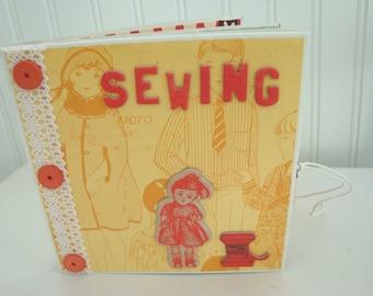 Sewing Scrapbook, Sewing Mini Album, Photo Album for Quilting, Scrapbook for Sewing Projects, Sewing Journal, Photo Journal for Mom