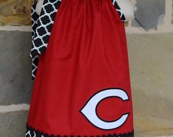Girls Cincinnati Reds Baseball Pillowcase Dress