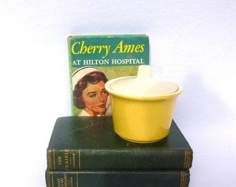 Yellow MOD Vintage SUGAR JAR