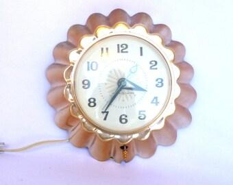 Vintage Copper JELLO MOLD CLOCK