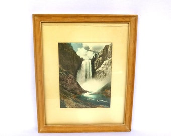 RARE Vintage PHOTO of Lower Falls YELLOWSTONE National Park