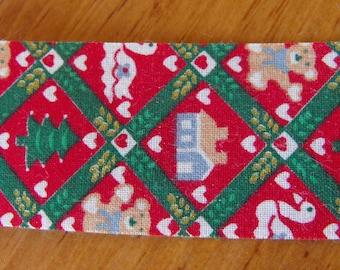 Christmas Items Fabric Ribbon 2 Yards