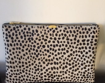 Leopard  Clutch-8 1/2 x 11 inches
