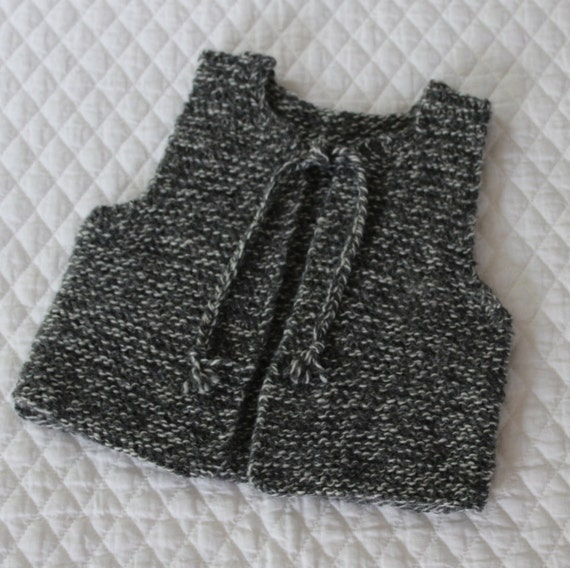 French Baby Knitting Patterns : Bebeknits French Style Simple Tie Baby/Toddler Vest Knitting Pattern from beb...