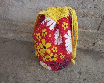 Knitting project bag, crochet bag