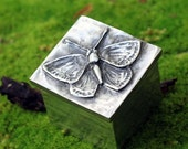 Spring Sale 10% Butterfly Jewelry Box in fine silver pewter
