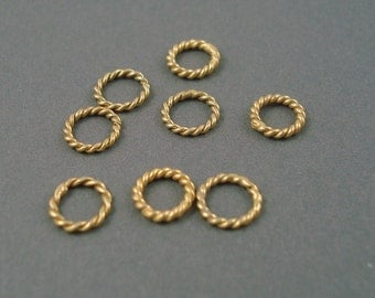 6MM Gold Fill Large Hole Spacer, Closed Rings, 8 Pieces