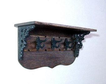 Cloak Rack, Rustic Dollhouse Miniature, 1/12 Scale Size, Hand Made