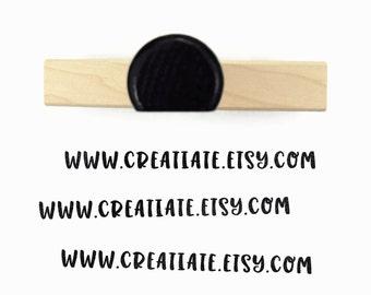 Custom Website URL Stamp - Wood Mounted Website Rubber Stamp