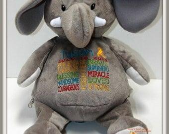 Spina Bifida personalized  Warrior Pet, stuffed animal