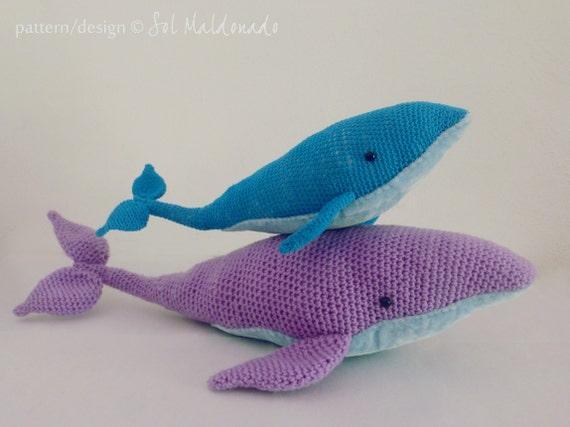 Whale Amigurumi Blue : Amigurumi Crochet Pattern Whale PDF - Blue Whales ...