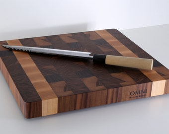 Small Size Walnut End Grain Butcher Block Cutting Board-Introductory Price-Great for Small Kitchen Spaces