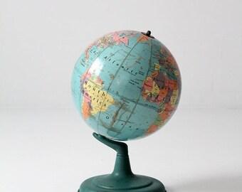SALE mid century world globe, 1960s 12 inch Nystrom globe