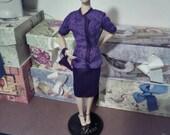 Purple Satin Skirt & Matching Blouse, Fits 15-16 inch Collector Dolls, Gene, Tyler, Tonner